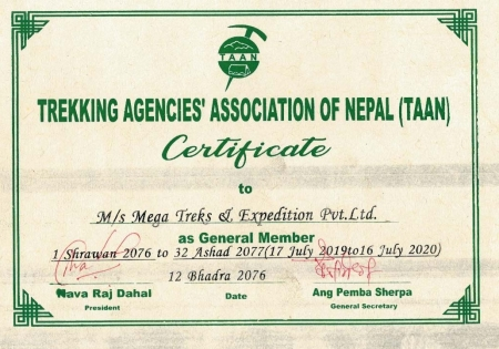 Trekking Agencies Association of Nepal (TAAN)  » Click to zoom ->